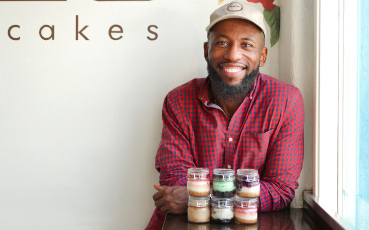 Valery Jean-Bart honors his late mother by baking delicious cheesecakes from recipes they created together.