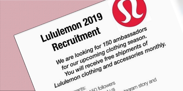 A Lululemon recruitment scam is going viral on Instagram