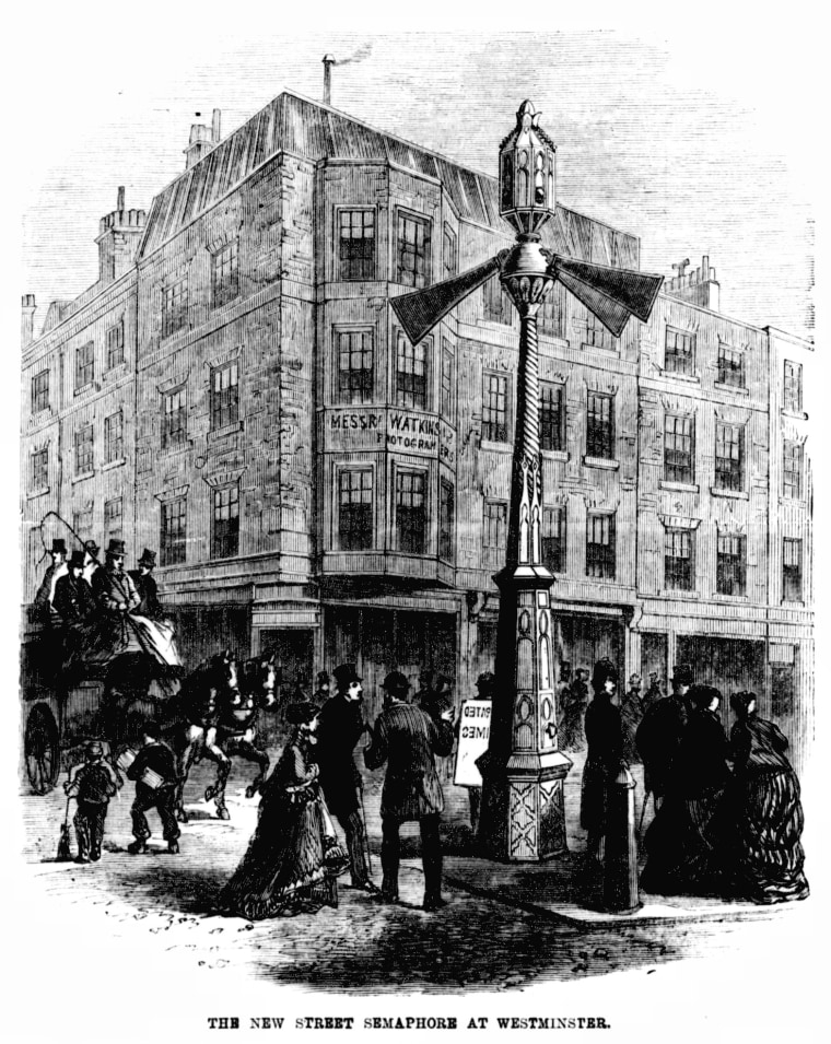Image: The world's first traffic light was put up on Dec. 10, 1868