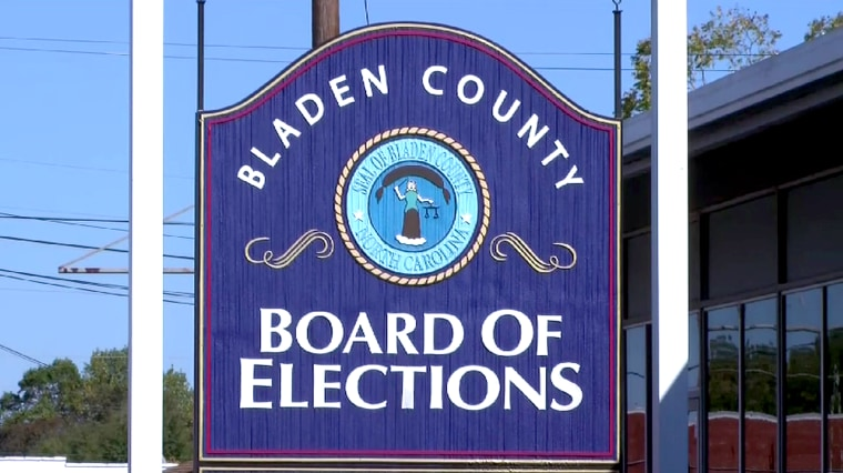 Bladen County Board of Elections in North Carolina.