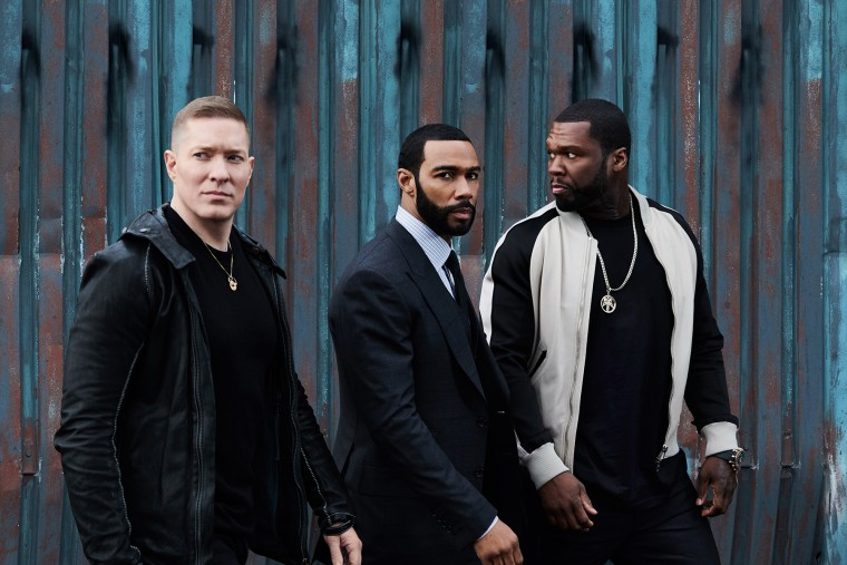 "Image: Joseph Sikora, Omari Hardwick and 50 Cent star in ""Power."""