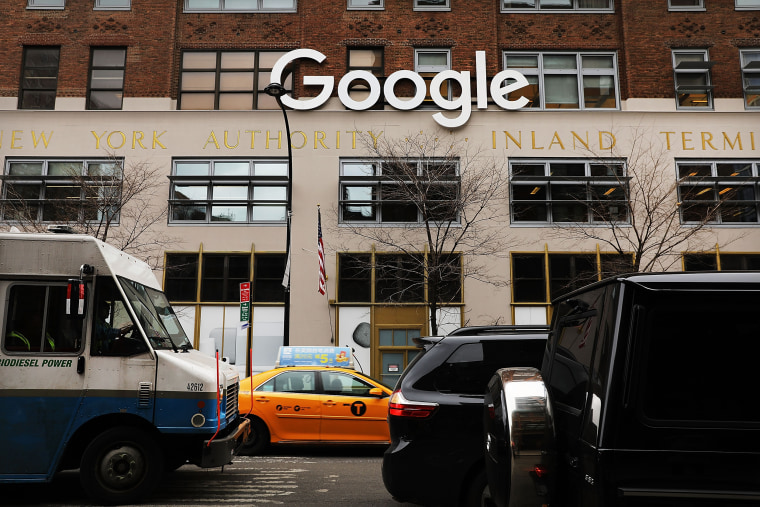 Image: Google's offices in New York on March 5, 2018.
