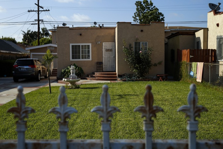 Image: A home stands in Compton, California