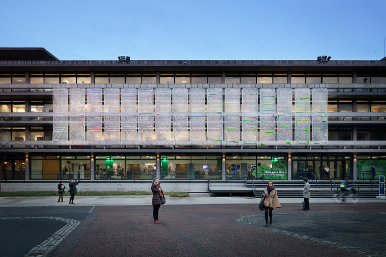 The bioplastic curtains could cover the facades of new or existing buildings