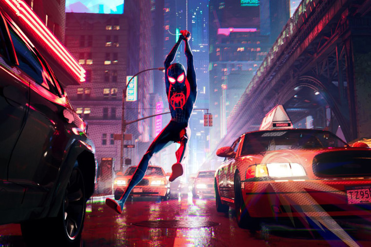 "Image: A still from ""Spider-Man: Into The Spider-Verse."""