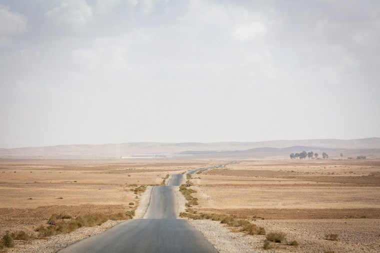 Image: A barren field south of Amman, Jordan's capital. This area is proposed to be used for several wells that requires digging up to 1000 metres in depth