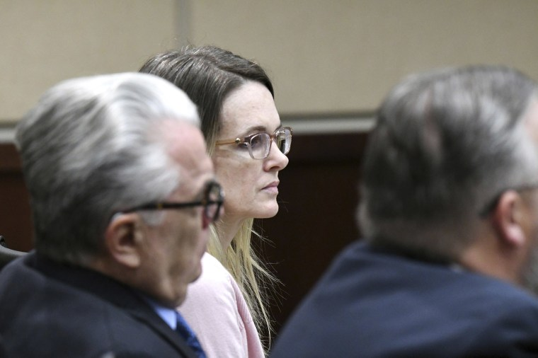 Image: Denise Williams listens to opening statements made by prosecutors during her trial