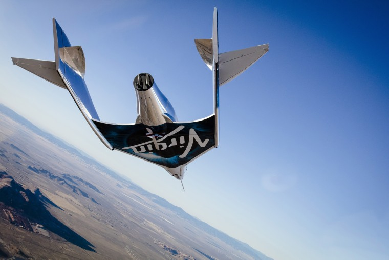 VSS Unity, first glide flight