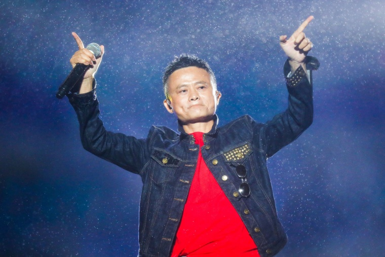 Image: Jack Ma, Alibaba Group founder and executive chairman, during the Computing Conference 2017 in Hangzhou