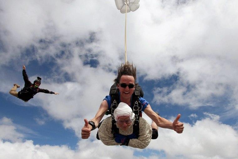 Image: TOPSHOT-AUSTRALIA-SKYDIVING-LIFESTYLE-OFFBEAT