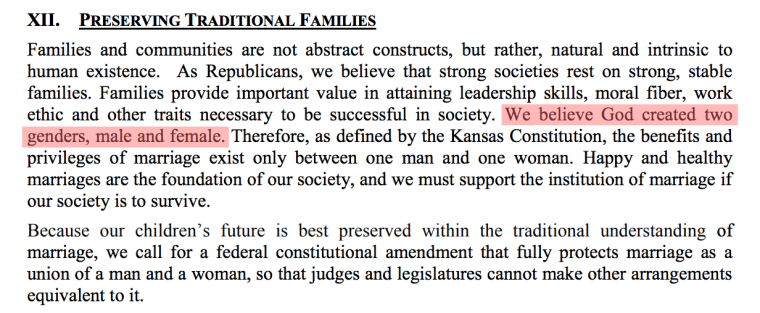 A passage from the Kansas State GOP.