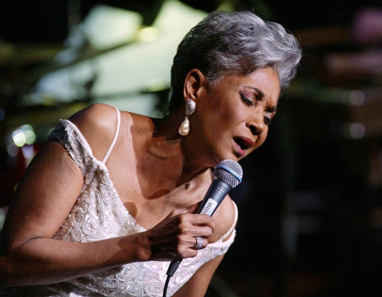 Image: Grammy Award winner and legendary vocalist Nancy Wilson performs at the Lincoln Center's Avery Fisher Hall in  New York