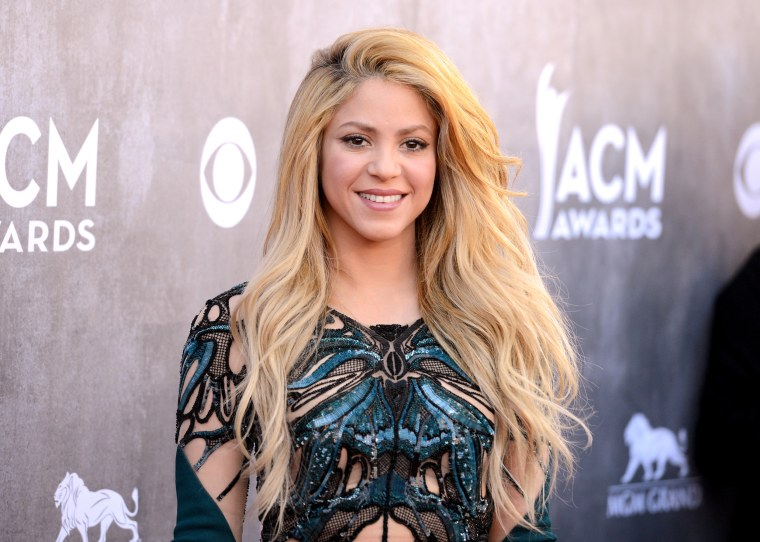 Shakira attends the Academy Of Country Music Awards in Las Vegas in 2014.