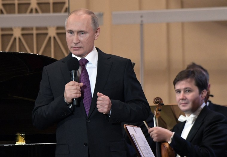 Image: Russian President Vladimir Putin at gala concert of XIX International Winter Festival Arts Square