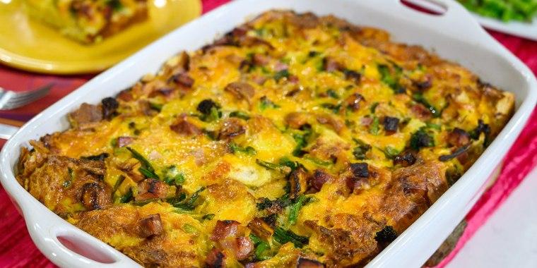 Siri Daly's Ham & Veggie Breakfast Casserole + Turkey Enchiladas