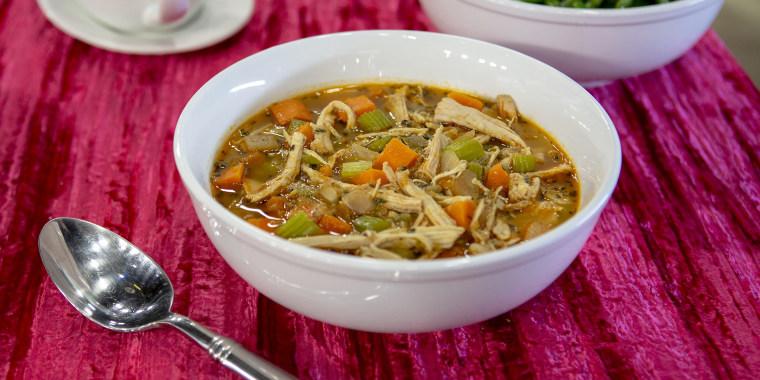 Demaris Phillips' Turkey and Herb Dumpling Soup