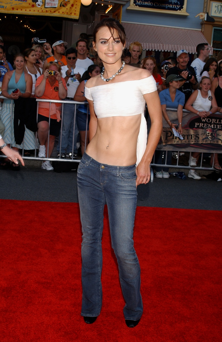 Low rise jeans are back in style as a fashion trend