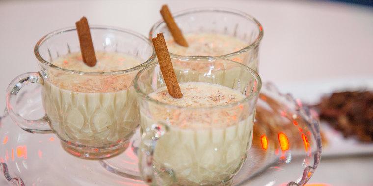 Zane Holmquists' Maple Nog + Warm Cider Glogg + Reindeer Tracks Hot Chocolate