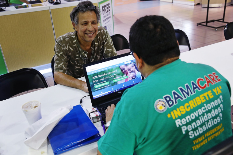 Image: People Sign Up For Health Care Coverage Under The Affordable Care Act During First Day Of Open Enrollment
