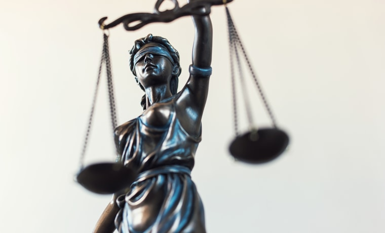 Lady Justice with the scales of justice