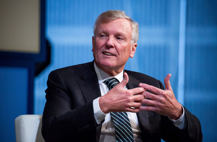 Image: Tom Rutledge, chairman and chief executive officer of Charter Communications Inc., speaks at a conference in New York on Nov. 10, 2016.