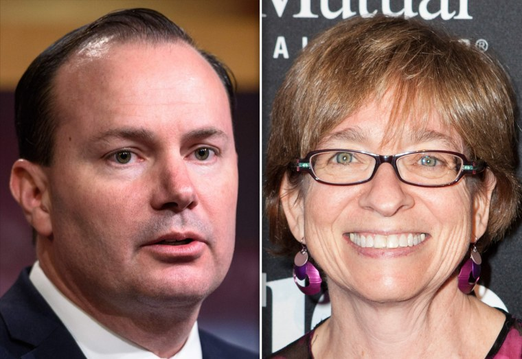 Image: Senator Mike Lee and EEOC Commissioner Chai Feldblum.