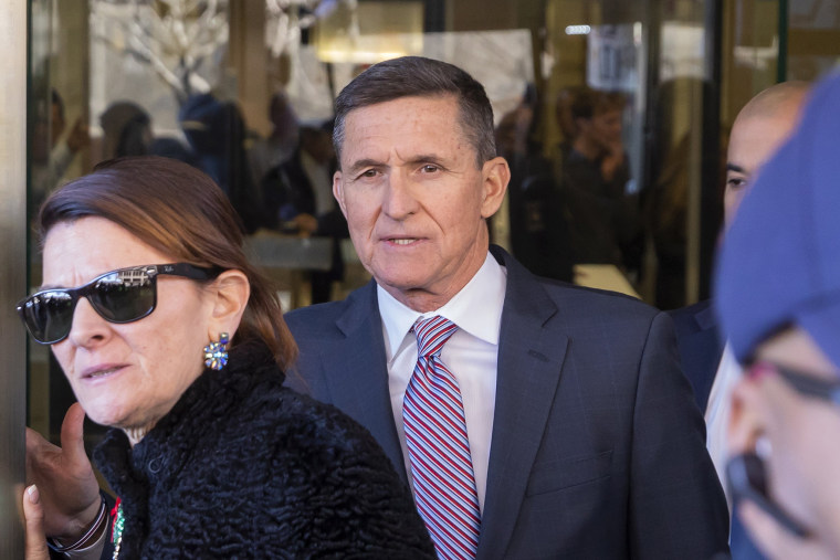 Former national security advisor Michael Flynn leaves after a sentencing hearing in Washington