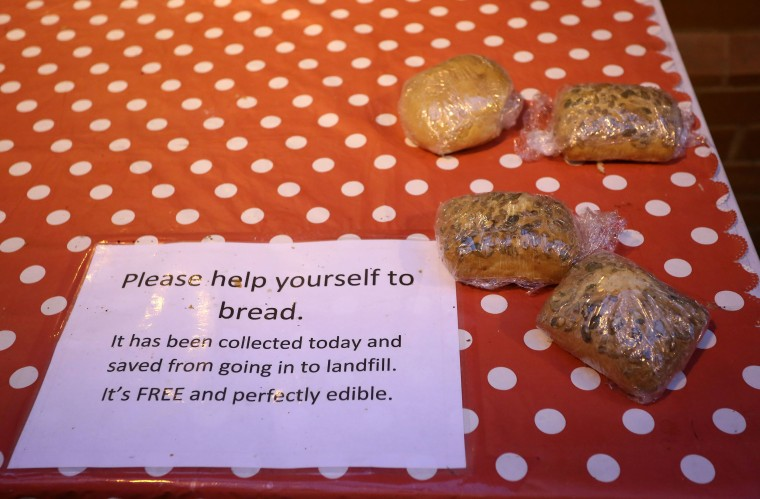 Image: Free bread in Oldham, England