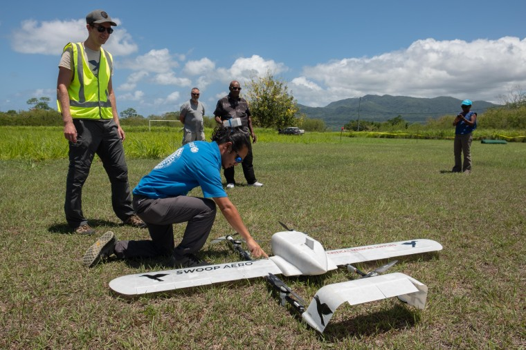 Drones fly vaccines to remote island in first-of-its-kind delivery