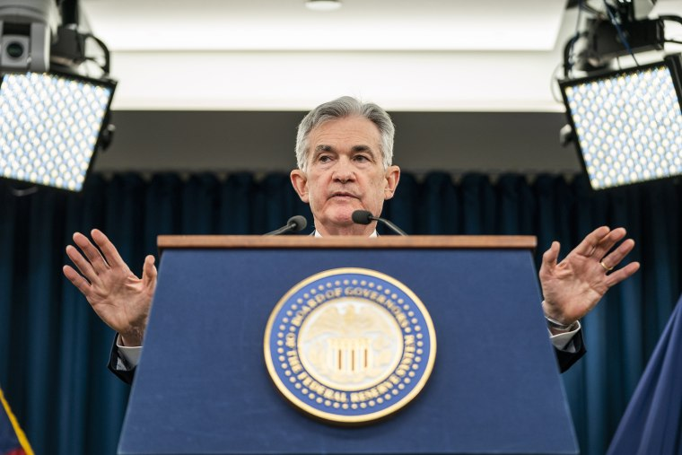 Image: Fed Chair Powell announces a quarter percent interest rate hike