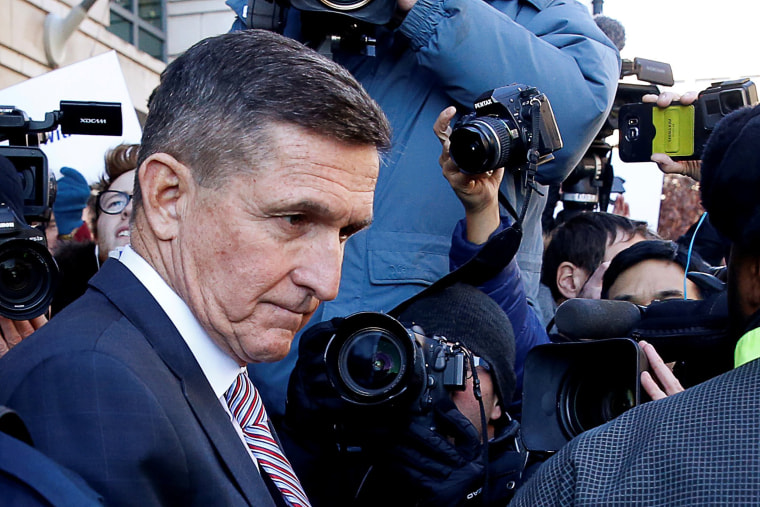 Image: Former U.S. national security adviser Flynn departs after sentencing hearing at U.S. District Court in Washington