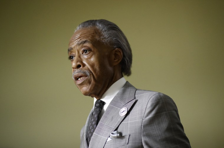 Image: Rev. Al Sharpton speaks in Woodlawn, Maryland on Aug. 8, 2017.