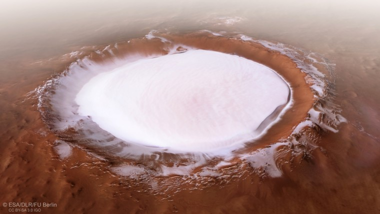 Image: Korolev crater, Mars