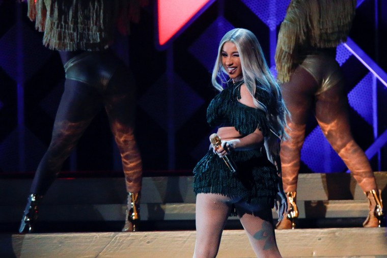 Image: Cardi B performs during Z100's iHeartRadio Jingle Ball 2018 concert at Madison Square Garden in New York City