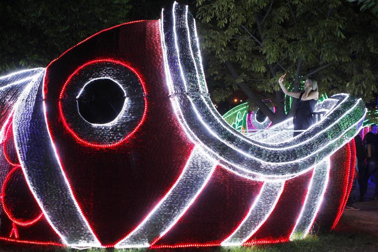 Image: Christmas lights in Medellin
