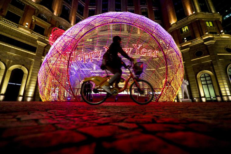 Image: Christmas decorations in Taipei
