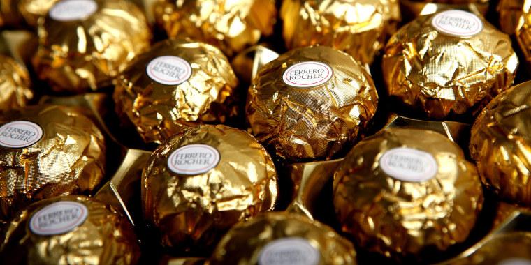 Fererro Rocher Chocolates Produced By Ferrero SpA