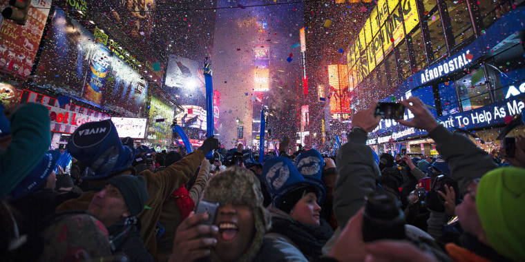 New Year's Eve ball drop Times Square
