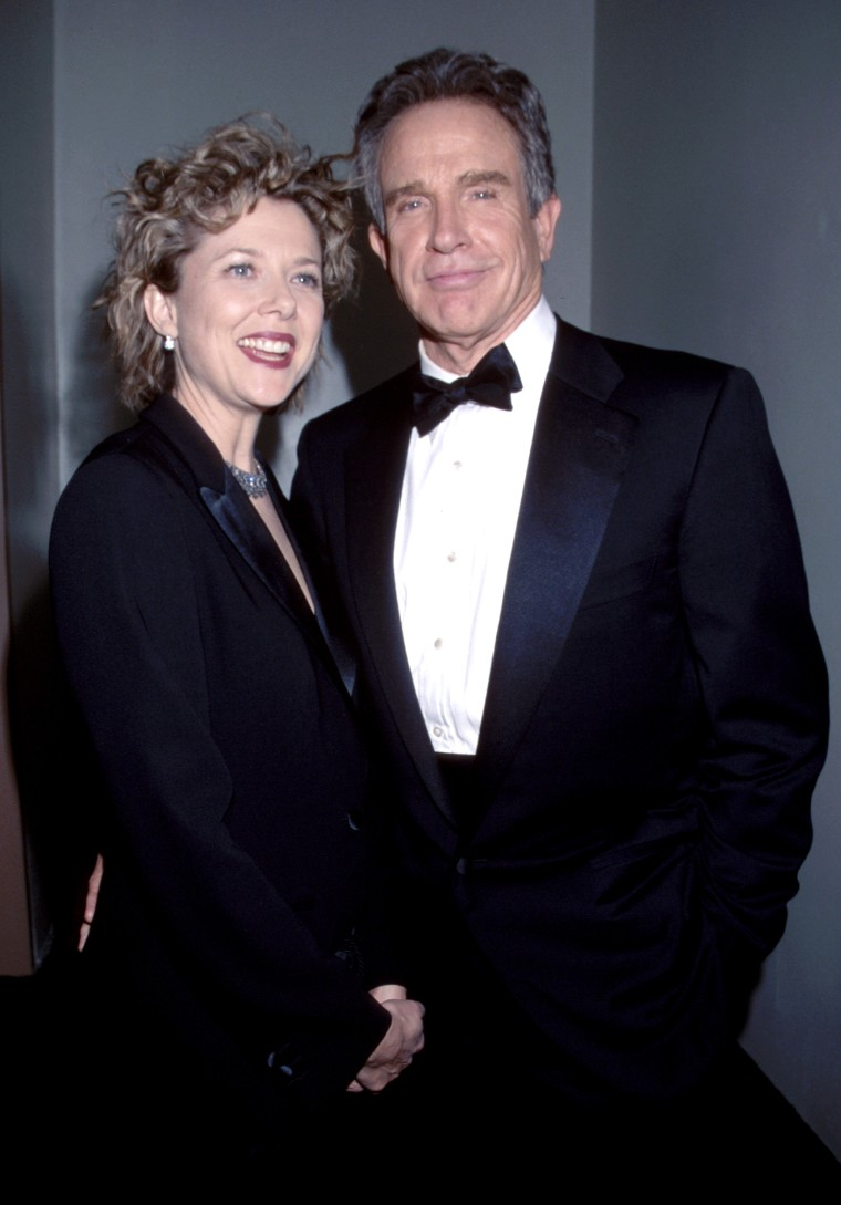 Warren Beatty & Annette Bening during The 56th Annual Golden Globe Awards - Red Carpet at Beverly Hilton Hotel in Beverly Hills, California, United States. (Photo by KMazur/WireImage)