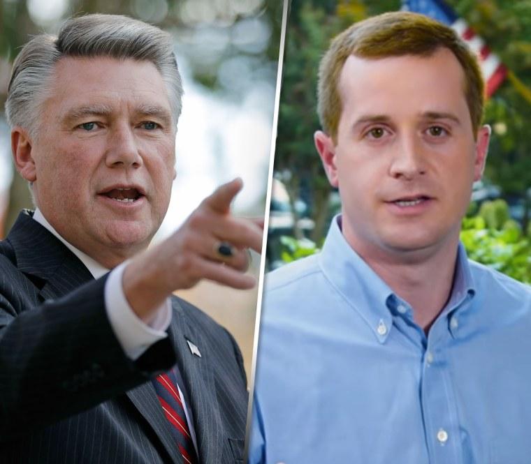 Republican Mark Harris, left, and Democrat Dan McCready
