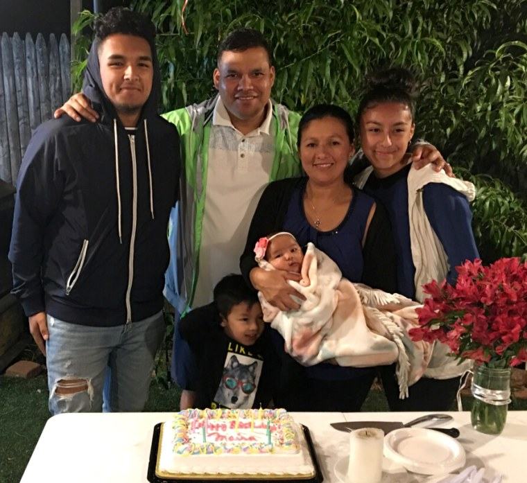 Image: Jose Palma, pictured with his family, has lived in the U.S. under Temporary Protected Status, or TPS.
