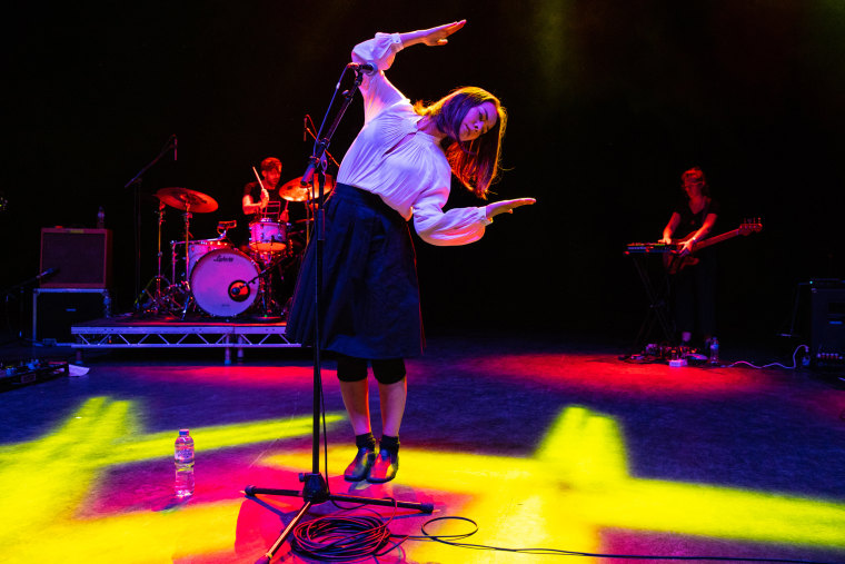 Image: Mitski performs in London on Sept. 26, 2018.