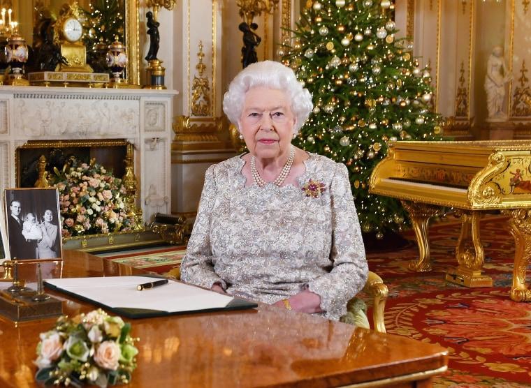 Image: Queen Elizabeth II Delivers Her Christmas Speech