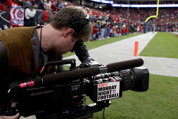 Image: An ESPN Monday Night Football cameraman during a game between the Jacksonville Jaguars and the Houston Texans in Houston in 2008.