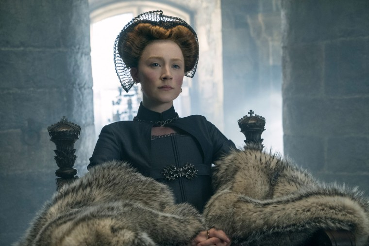"""Image: Saoirse Ronan as Mary Stuart in a scene from """"Mary Queen of Scots."""""""