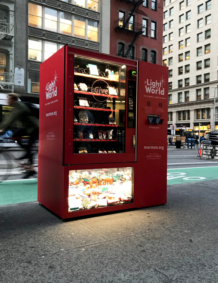 Image: A Light the World vending machine.