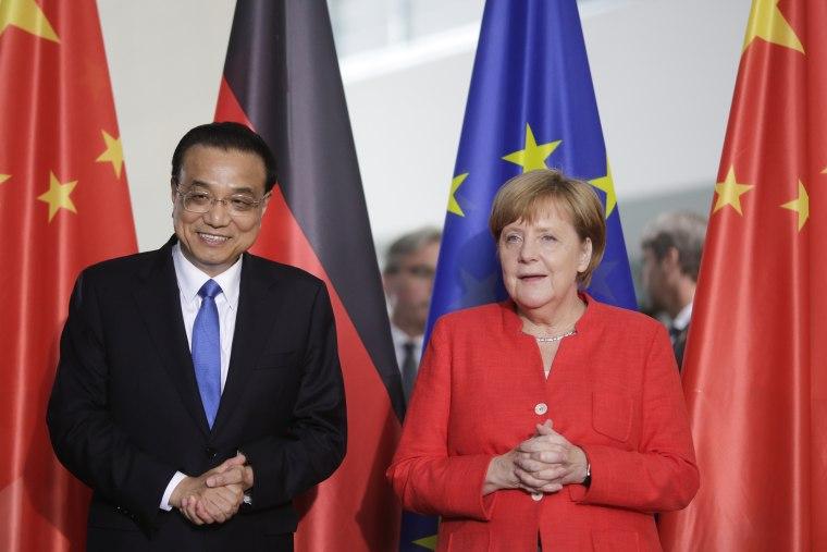 Image: Angela Merkel Li Keqiang