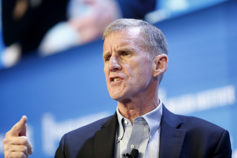 Stanley McChrystal speaks during the annual Milken Institute Global Conference in Beverly Hills, California, on May 2, 2016.