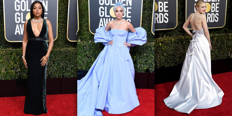 Golden Globes red carpet 2019 fashion trends