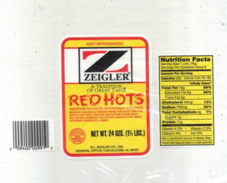 Image: R.L. Zeigler Co. sausage labels